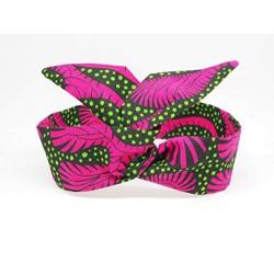 Bandeau Headband Wax Vert Rose