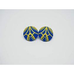Boucles d'oreilles Aya bleu...